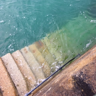 stairs into sea