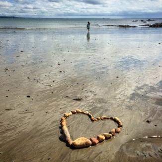 heart on beach 2