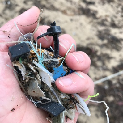 handful of beach rubbish