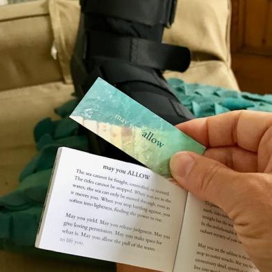 allow the broken foot